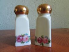 Vintage Porcelain Salt & Pepper Shakers~ Floral Design ~ Nippon ~ Japan