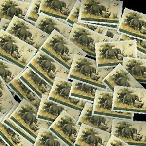 Tanzania 1980-5 SG#319, 20s African Elephants, Wildlife MNH x 100 Cat £150 #M726