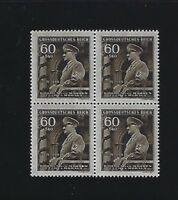 MNH Stamp Block #1  Adolph Hitler Birthday 1944 / WWII Occupation / Third Reich