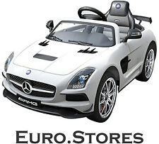 Mercedes-Benz SLS AMG Cabrio White Electric Children Ride On Car LED Genuine New