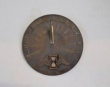 """Vintage Cast Iron Sundial 9""""-Bird Dial-Count None but Sunny Hours"""