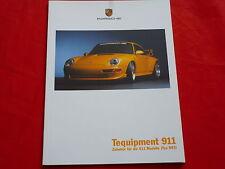 PORSCHE 993 911 Tequipment ACCESSORI Aerokit RS clusport prospetto di 1999