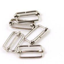 25mm 1 in. Chrome Metal Strap Adjuster Slider for Bag Making Straps (M056)