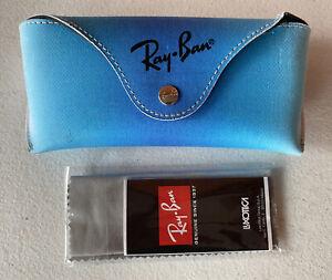 RARE Ray-Ban Case Blue Ombre Colors Eyeglasses Sunglasses Snap Closure