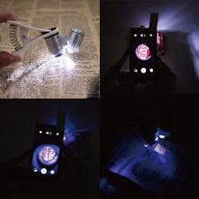 LED à Clipser TéléPhone Portable Universel 60X Zoom Optique Microscope Lentille