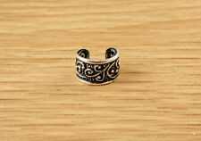 Filigree Design Sterling Silver Ear Cuff Band Earring Mens Womens Vintage Style