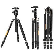 KF-TC2534 Pro Carbon Fiber Camera Tripod Travel Monopod 12KG 26lbs Load Silver