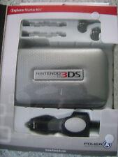Official Nintendo 3DS Starter Kit ~ Excursion Starter Kit Power A ~ Silver Case