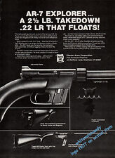1980 CHARTER ARMS AR-7 Explorer .22 LR Rifle PRINT AD (also appeared in 1981)