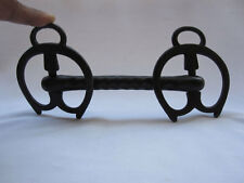 An antique or old victorian Iron hand crafted horse bridle bit collectible