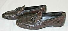 Men's US sz 9 Ermenegildo Zegna brown leather tassel loafer shoes