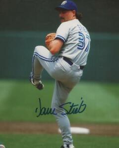 DAVE STIEB TORONTO BLUE JAYS SIGNED AUTOGRAPHED 8X10 PHOTO W/ COA