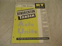 Hendrickson Tandem Axle Units RU Series Brochures 1970s