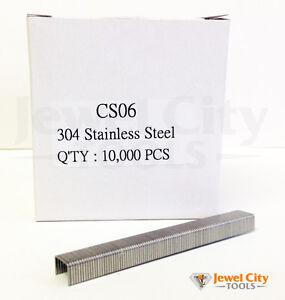 """22 Gauge Stainless Steel Upholstery Staples 3/8"""" crown 1/4"""" Length 71 C series"""