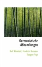 Germanistische Abhandlungen: By Karl Weinhold
