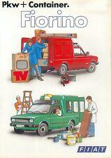 FIAT FIORINO AUTO container PROSPEKT 8/81 BROCHURE AUTO AUTOMOBILI utilitaria 1981