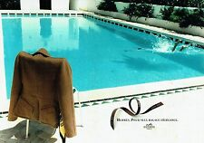 Publicité Advertising  0817  1996   Hermès (2p) veste Paris cachemire