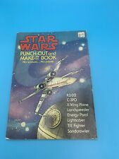 The STAR WARS PUNCH-OUT and MAKE-IT Book 1978 First Edition 32 pages GOOD COND.