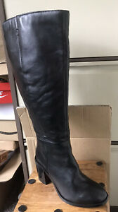 Ladies 'Simply Be' Long Leather Knee Boots - Size 6 (39) XW - NEW (Other)