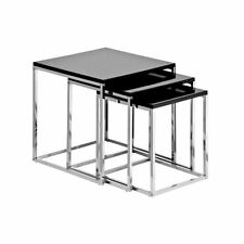 Less than 60cm Height Chrome Square Modern Nested Tables