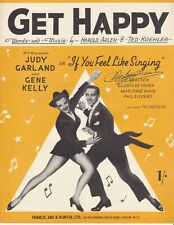 Get Happy - If You Feel Like Singing - Judy Garland - 1950 sheet music