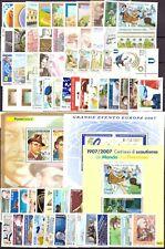 2007 Italia Annata Completa Nuovi Come Unificato 66 Valori 3 Bf MNH Integri