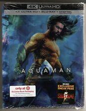 Aquaman 4K Ultra Hd /Blu Ray / Digital Target Exclusive Book Brand New