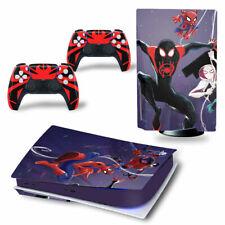 PS5 Disc Edition Skin Decal Sticker -Spiderman Custom Design 17 - FREE P&P