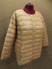 NEW Lightweight Brown Nylon Packable Puffer Jacket by Roamans Womens Plus Sz 1X