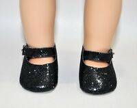 American Girl Dolls Clothes Our Generation 18 Doll Clothes Black Glitter Shoes
