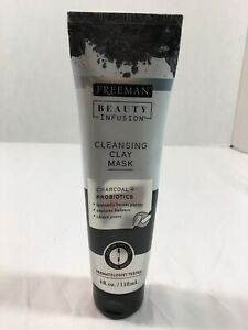 FREEMAN BEAUTY INFUSION CLEANSING CLAY Mask 4 Ounce PROBIOTICS