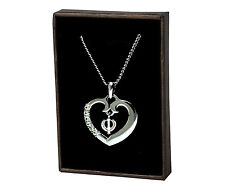 Sikh Khanda Heart Necklace - 18ct White Gold Plated | Diwali Birthday Symbolism