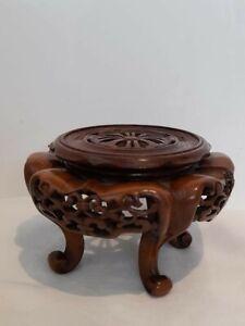 Attractive vintage 4 Legged Wooden Oriental Pot/Plant Stand