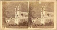 Dorf Kirche Foto Stereo Vintage Albumin Ca 1880