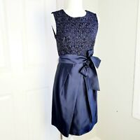 Suzi Chin For Maggy Boutique Navy  Cocktail Dress Size 8