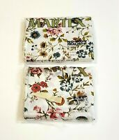 Vintage Martex Twin Sheet Set 2-Piece (1) Flat (1) Fitted Floral Butterfly