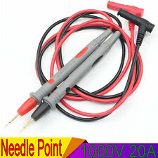 1000V 20A Needle Point Multi Meter Test Probe/Lead For Digital Multimeter Fluke