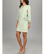 Tahari ASL Women's Linda formal Dress Taupe/Mint size 16 XL Polyester Acetate