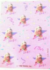 Vintage Barbie stickers one sheet Reed Art star birthday party craft new 1992