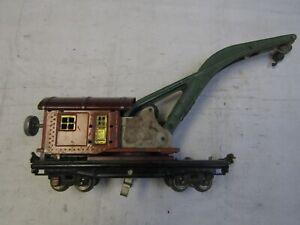 LIONEL 810 CRANE CAR EARLY COLORS PREWAR 1930-42 O GAUGE ORIGINAL CONDITION
