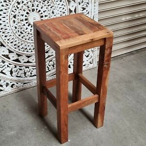 CLEARANCE BARGAIN -reclaimed old wood rustic kitchen bar stool - pickup only