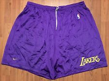 VINTAGE AUTHENTIC NIKE LOS ANGELES LAKERS NBA PRACTICE SHORTS 4XL MADE IN USA