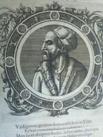 1574 Icones Veterum Ritratto Iovius Paolo Giovio, Medico Como  Firenze