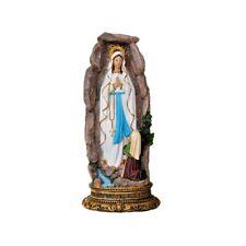 Madonna Lourdes in resina Grotta Apparizione Fiume Acqua Statua Sacra Liturgica