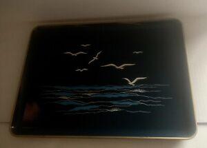 Nautical Otagiri Japan Lacquerware Serving Tray The Sea Ocean Seagull