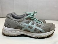 Women's ASICS Gel-Contend 5 Gray/Teal Casual Athletic Shoes Size 7 1012A234