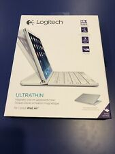 Logitech Magnetic Clip-On Bluetooth Ultrathin Keyboard Cover iPad Air - White