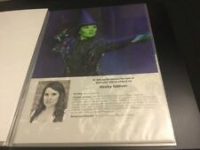 Wicked The Musical London Hayley Gallivan A4 Standby/Played By Sheet/Card