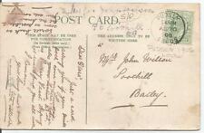 Anello Singolo annullare su pudesy 1906 Re Edoardo VII 1/2 D VERDE PPC 159