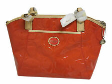 Coach Peyton Patent Leather Bag Persimmon Purse Pocket Tote NEW F20028 R $398.00